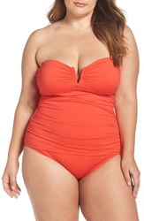 Tommy Bahama Plus Size Women's 'Pearl' Convertible One Piece Swimsuit Valencia