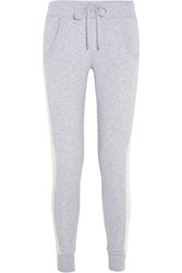 Michael Michael Kors Cotton Blend Jersey Track Pants Gray
