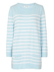Tulchan Bretton Stripe Jumper Duck Egg