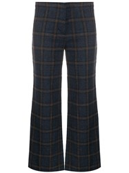 Masscob Check Patterned Flared Trousers 60