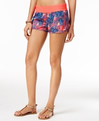 Roxy Neon Printed Board Shorts Women's Swimsuit Grapefruit Multi