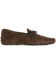 Tod's Classic Boat Shoes Brown