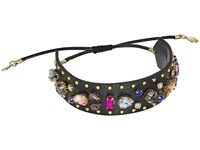 Rebecca Minkoff Jeweled Guitar Strap Bracelet Black Multi Bracelet