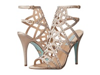 Blue By Betsey Johnson Carat Champagne Satin High Heels Bone