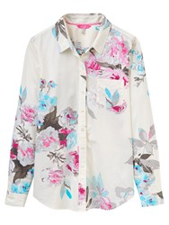 Joules Lucie Semi Fitted Printed Shirt Creme Bloom