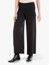 Max Studio Wide Leg Ponte Trousers Black