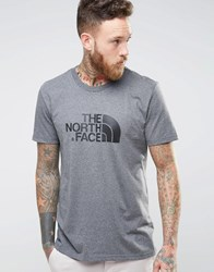 The North Face T Shirt With Easy Logo In Grey Grey