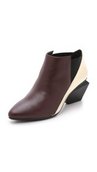 United Nude Jacky Mid Booties Burgundy Gold