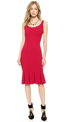 Jill Jill Stuart Scoop Neck Pleated Dress Red