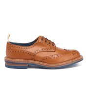 Tricker's Men's Bourton Revival Leather Brogues Acorn Blue Sole Tan