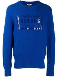 Versus Printed Sweatshirt Blue