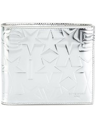 Givenchy Star Embossed Billfold Wallet Patent Leather Metallic