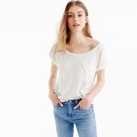 J.Crew Relaxed Boatneck T Shirt In Slub Cotton