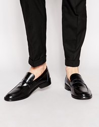 Base London Balfour Leather Loafers Black