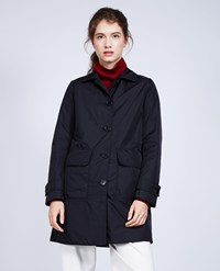 Aspesi Nylon And Thermore Coat Albanella Black