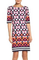 Eliza J Women's Border Print Shift Dress