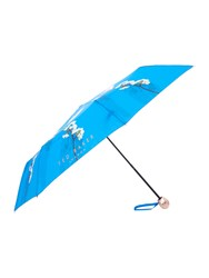Ted Baker Harmony Floral Compact Umbrella Bright Blue