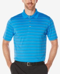 Pga Tour Men's Airflux Striped Golf Polo French Blue