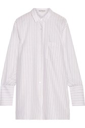 Acne Studios Bai Oversized Striped Cotton Shirt White