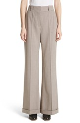 See By Chloe Cuffed Wide Leg Pants Multicolor White