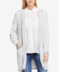 Vince Camuto Hooded Open Front Cardigan Antiq White