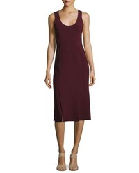 Elizabeth And James Mireille Sleeveless Scoop Neck Ponte Dress Wine