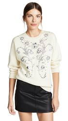 Paco Rabanne Sweatshirt With Embroidery Ivory