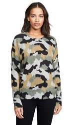 360 Sweater Cashmere Nanette Light Heather Grey Camo