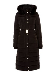Linea Longline Down And Feather Padded Coat Black