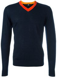 Paul Smith Ps By V Neck Jumper Blue