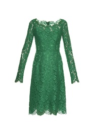 Dolce And Gabbana Boat Neck Lace Dress