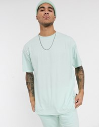 Soul Star Mix And Match Organic Cotton Oversized T Shirt In Pastel Green