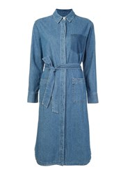 Steve J And Yoni P Denim Shirt Dress Blue