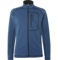 Peak Performance Fleece Back Tretch Jerey Mid Layer Jacket Blue