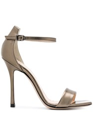 Marc Ellis Classic Open Toe Sandals Metallic