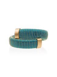 Carolina Bucci Caro Yellow Gold Plated Bangle Metallic