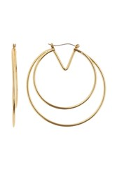 Vince Camuto 55Mm Multi Row V Hoop Earrings Gold 01