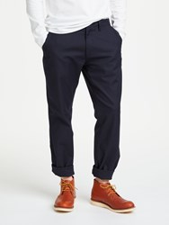 John Lewis And Co. Garment Dye Canvas Chino Trousers Navy