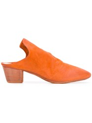 Marsell Closed Toe Mules Yellow And Orange