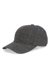 Ted Baker London Graphic Check Baseball Cap Charcoal