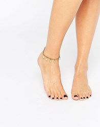 Pieces Disc Anklet Gold