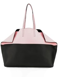 Alexander Mcqueen Two Tone Butterfly Tote Bag Black