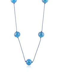 Naoto Blue Glass Bead Long Necklace