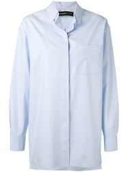 Alexandre Vauthier Concealed Fastening Shirt Women Cotton 38 Blue