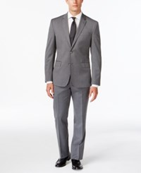 Kenneth Cole New York Slim Fit Performance Wear Gray Travel Suit
