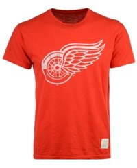 Retro Brand Men's Detroit Red Wings First Line Logo T Shirt