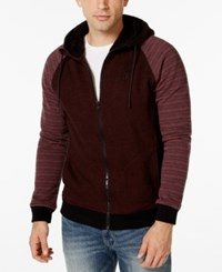Hurley Powerplant Patternblocked Faux Sherpa Lined Fleece Hoodie