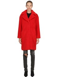 Stand Camille Cocoon Faux Fur Coat Red