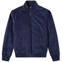 Baracuta G9 Corduroy Harrington Jacket Blue
