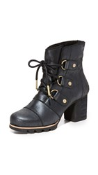 Sorel Addington Lace Up Holiday Booties Black